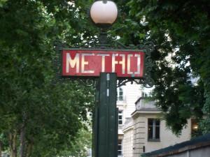 Metro Station sign, Paris