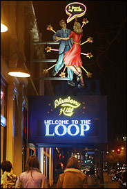 Welcome to the Loop sign, courtesy of the New York Times