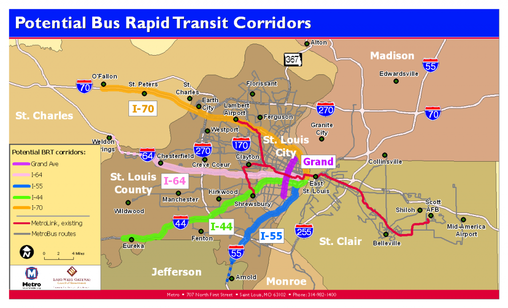 Potential BRT Corridors 2009