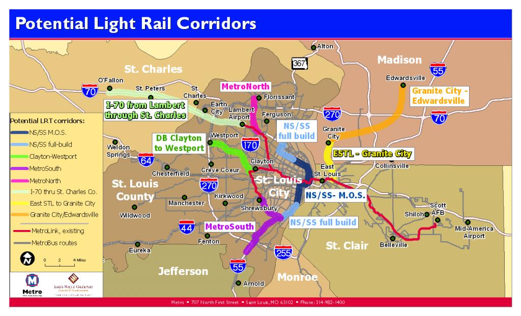 Potential Light Rail Corridors