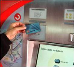 A ticket vending machine with a Smart Card reader