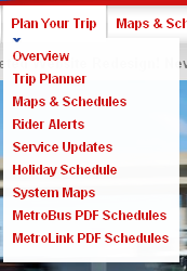 Plan Your Trip Menu Item