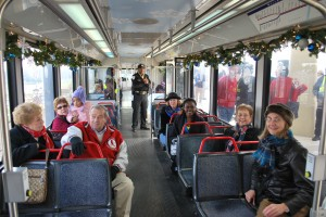 Ten Toes group from Citizens for Modern Transit on the Holiday Magic Train