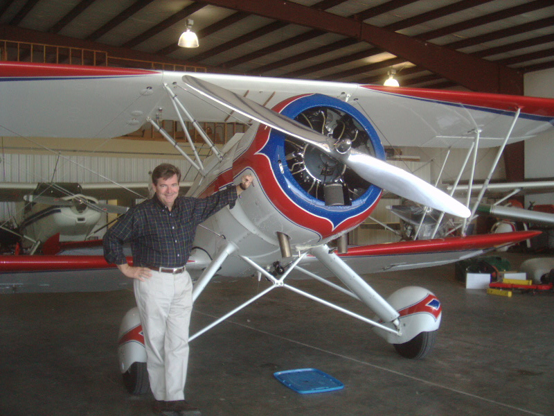 Bill Macon and Bi-Plane