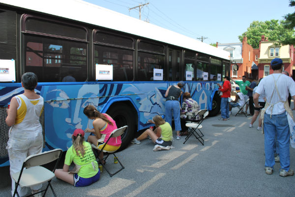 Peter & Paul Community Services Bus Painting May 2012