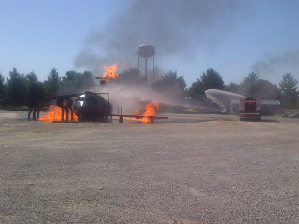St. Louis Downtown Airport firefighter training