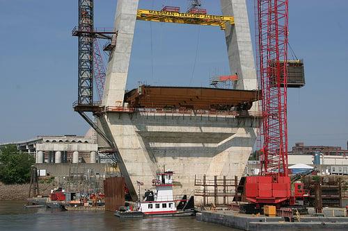 Mississippi River Bridge in St. Louis UnderConstruction
