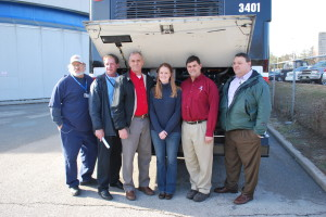 Metro's Ken Dickinson, Chris Trower, Darren Curry, Terry Bowles, Carl Thiessen, and Ray Friem