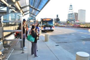Grand Scott Ave Transit Plaza Reopening 082012 010