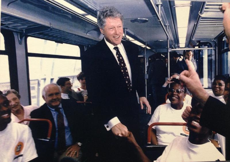 Clinton on Metrolink 1994 004