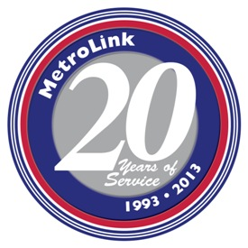 MetroLink 20th Anniversary Logo for metroweb