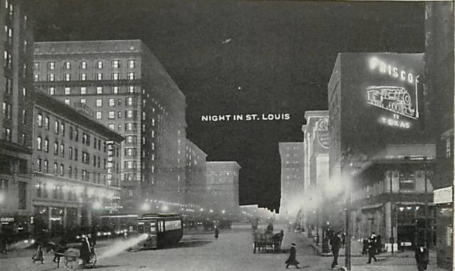 old postcard night in stl 1
