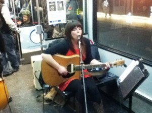 Beth Bombara and her band performed on Dec. 7.
