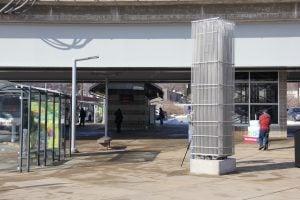 """London"" artwork at the Shrewsbury Lansdowne I-44 MetroLink Station"