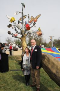 Artist Catharine Magel and Metro Arts In Transit Director David Allen