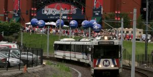 metrolink and new busch stadium