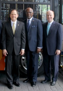St. Louis Mayor Francis Slay;  St. Louis County Executive Charlie Dooley; Bi-State Development Agency President & CEO.