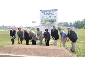 Officials from Metro, St. Louis County, City of Ferguson and other transit partners celebrated with a groundbreaking ceremony.