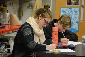 Crossroads Preparatory School Student Charlotte provides ideas for a new Metro artwork.