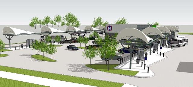 Phase I Wider Shot Rendering North County Transit Center