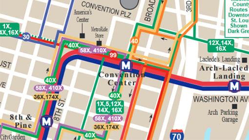 Madison Metro Map.System Maps Metro Transit St Louis