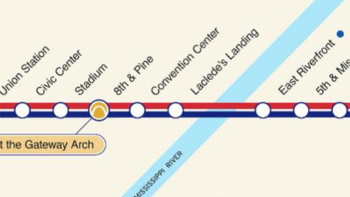 St Louis Subway Map