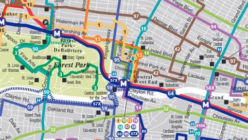 Madison Subway Map.System Maps Metrostlouis Org Site Metro Transit St Louis