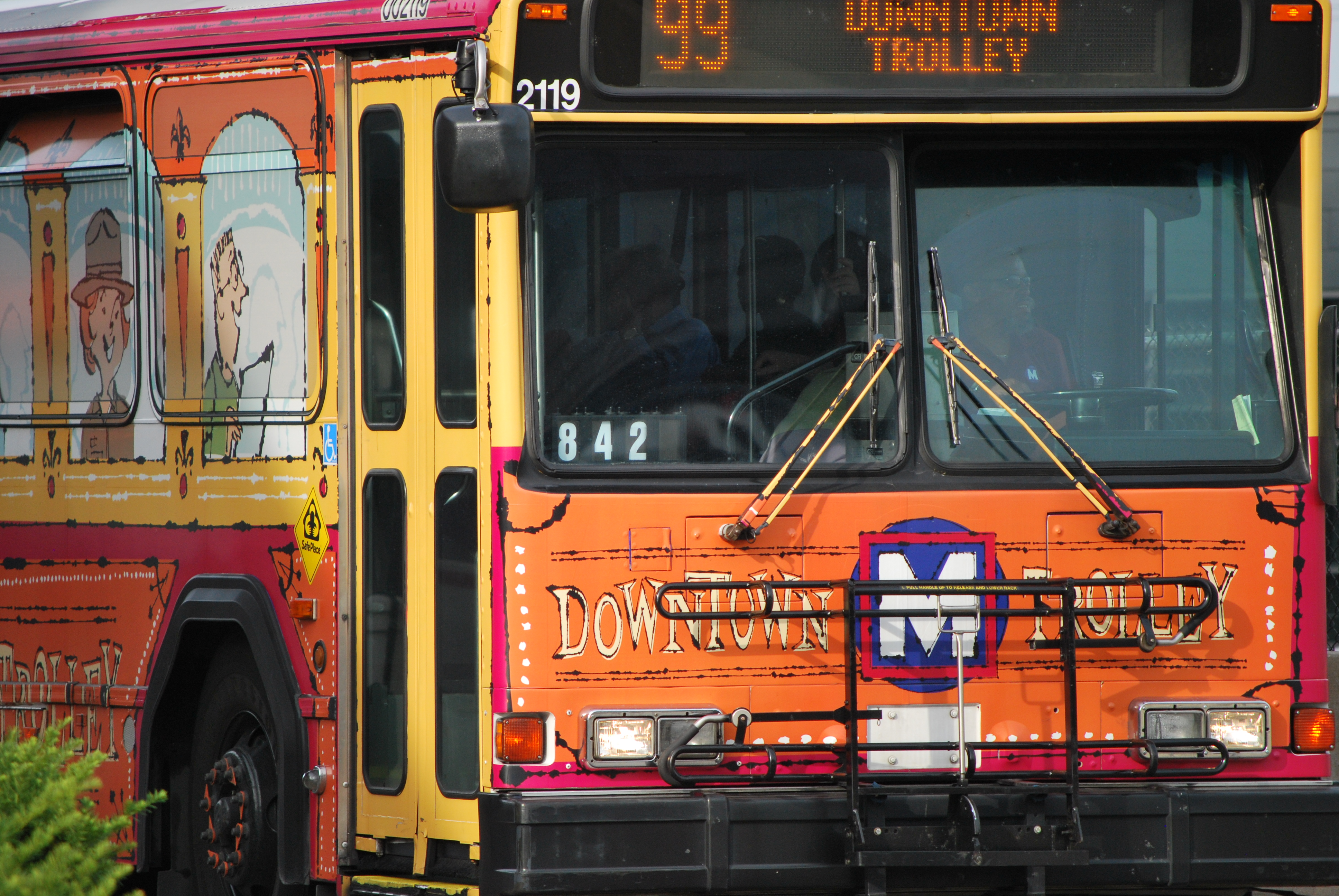 99 Downtown Trolley Route Extended Metro Transit St