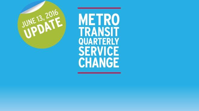 EXTERNAL - Service Change June 13