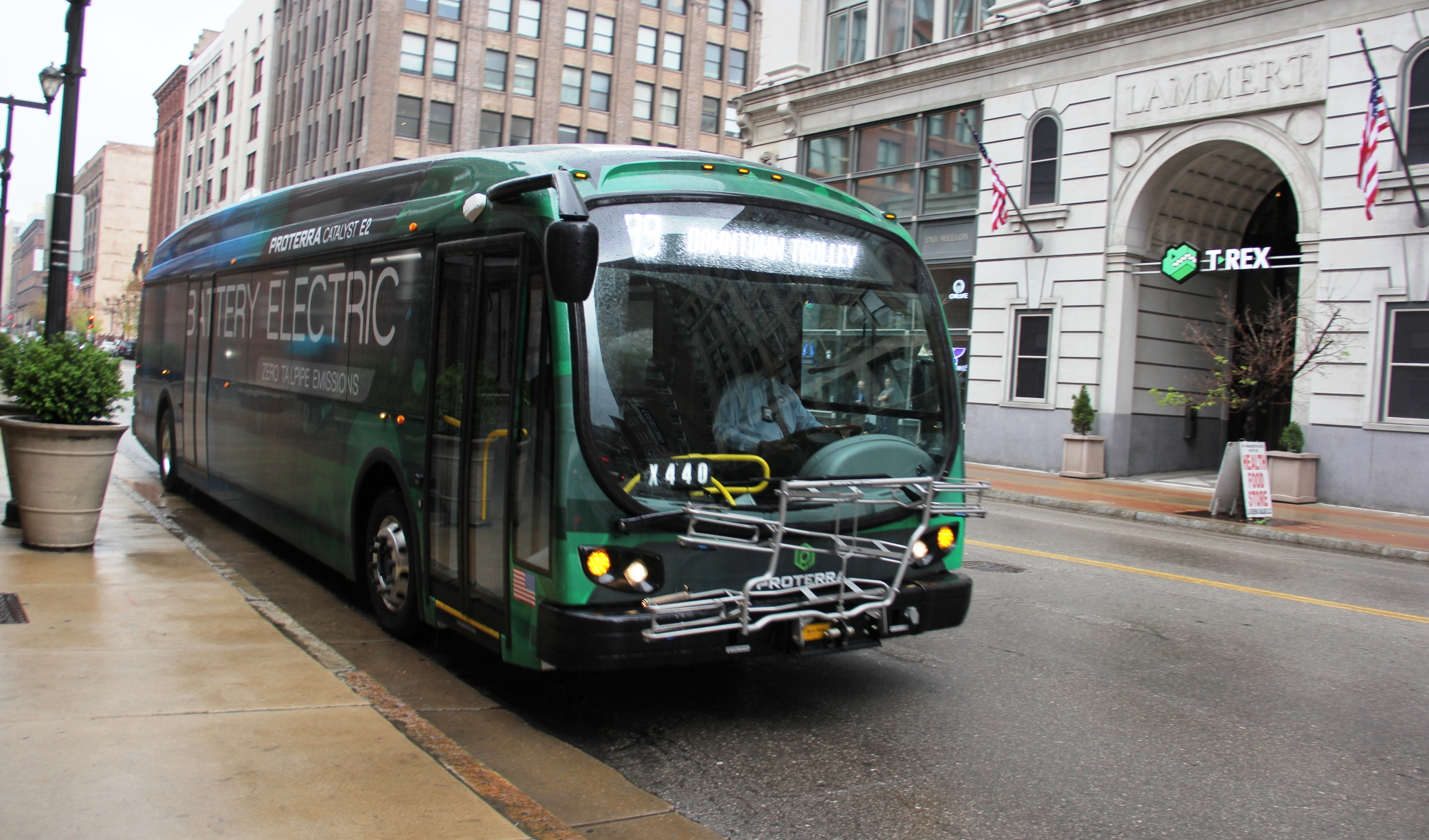 Metro Test Drives Electric Bus On 99 Downtown Trolley