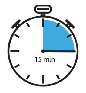 Stopwatch Icon Indicating a 15 minute interval