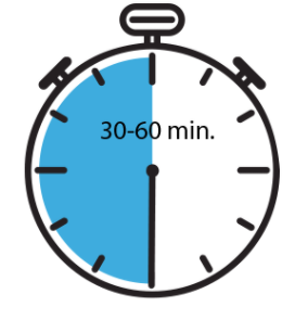 Stopwatch Icon Indicating a 30 minute interval