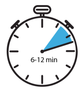 Stopwatch Icon Indicating a 6 to 12-minute interval.