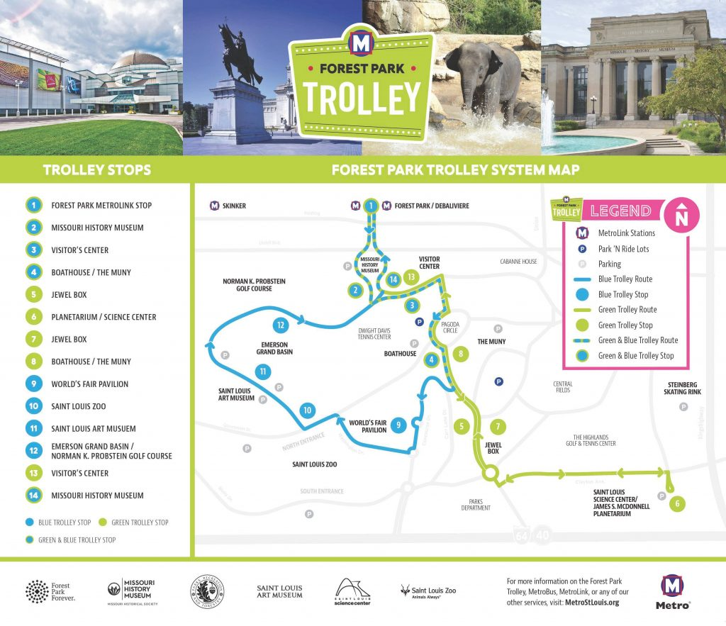 Forest Park Trolley Route Map