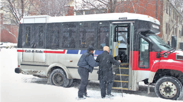Boarding Call-A-Ride In Bad Weather