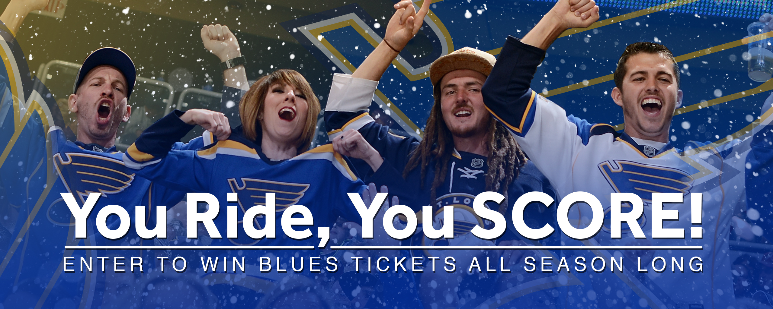 Read More | You Ride, You Score! | Enter To Win Blues Tickets All Season Long