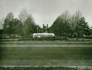Historical Bus Photo Near Washington University in St. Louis