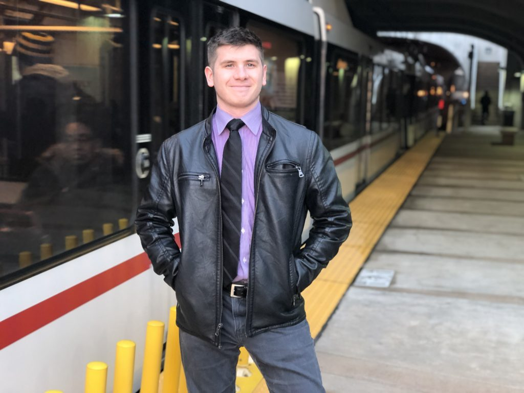 It's possible to navigate St. Louis without a car, just ask Mitchell.  Each day, Mitchell boards a Blue Line train at the Forsyth MetroLink Station. From there, he rides the train to the 8th & Pine MetroLink Station in downtown St. Louis.