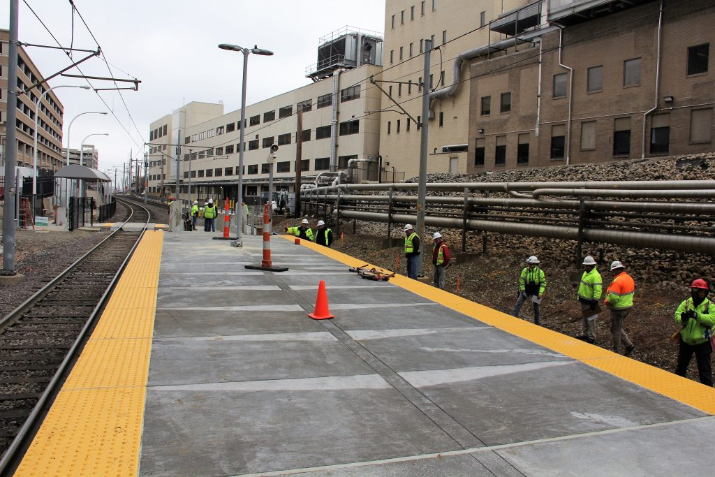 Central West End Platform Construction