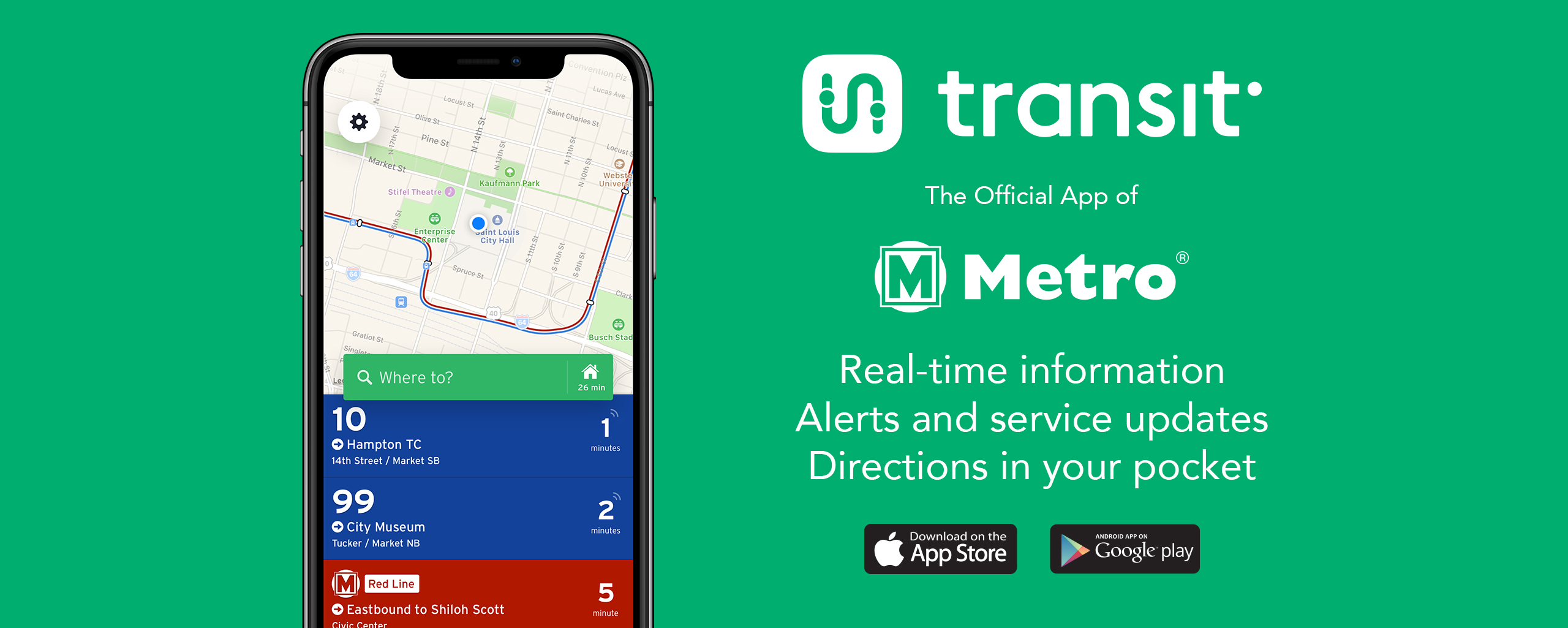 Read More | Transit App homepage graphic