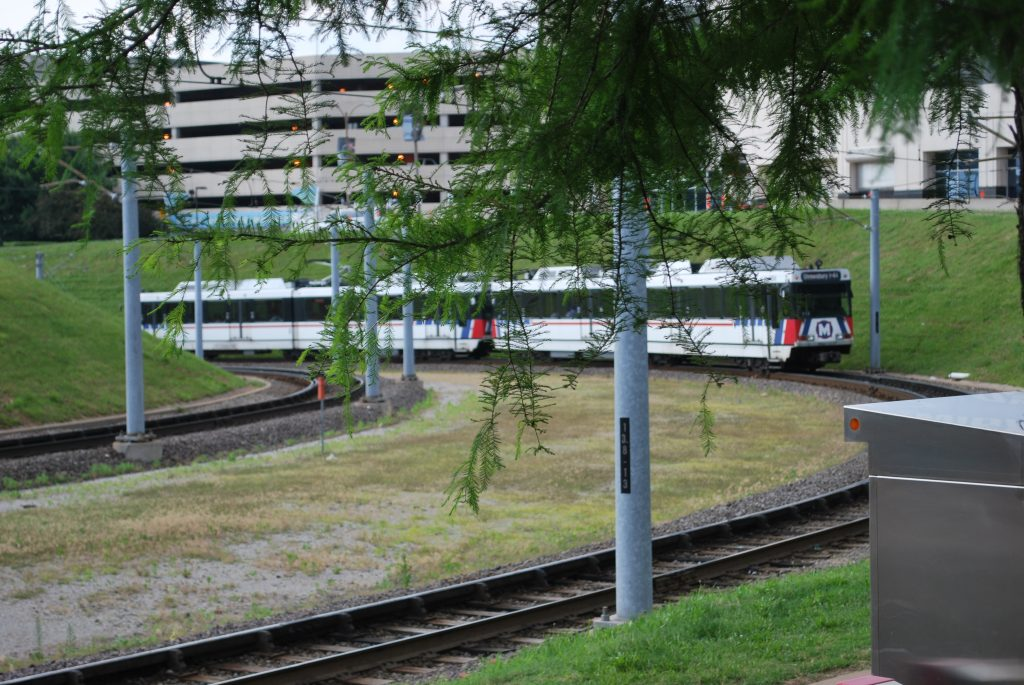 MetroLink train en route to Civic Center