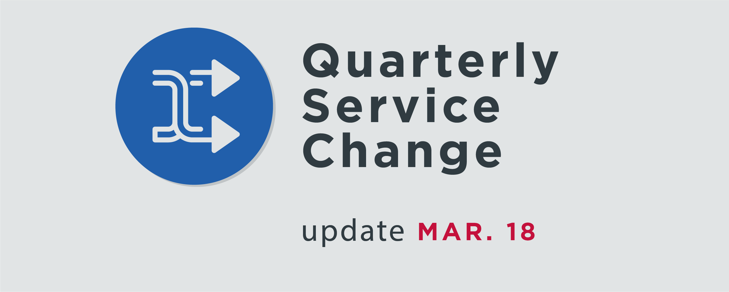 Read More | Service change logo