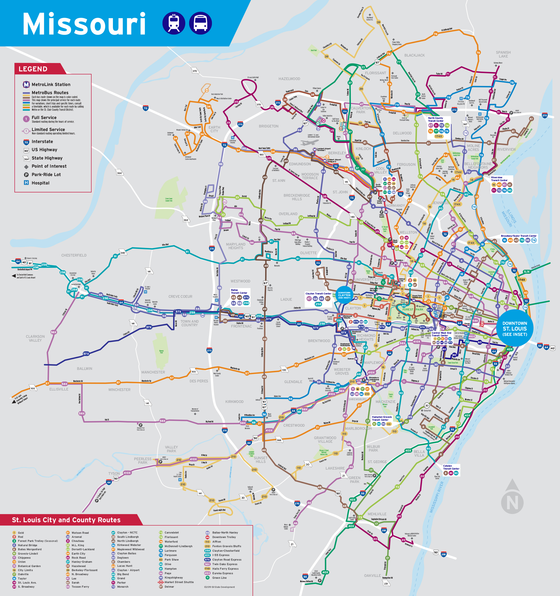 Subway Map Holiday.System Maps Metrostlouis Org Site Metro Transit St Louis