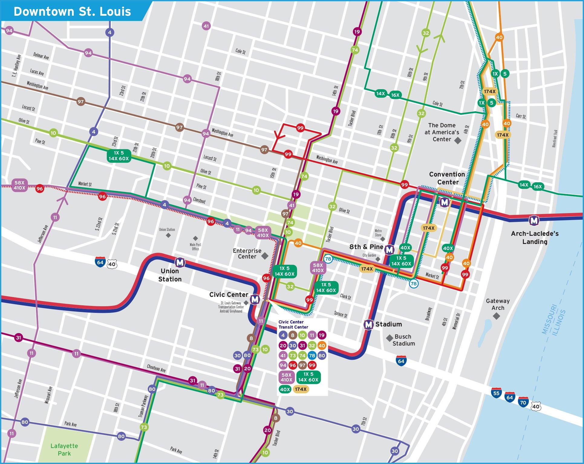 Q Line Subway Map.System Maps Metrostlouis Org Site Metro Transit St Louis