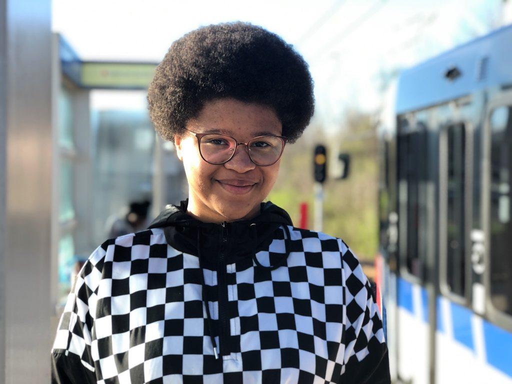A Metro Transit passenger