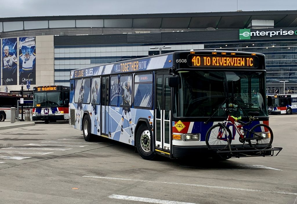 MetroBus in motion