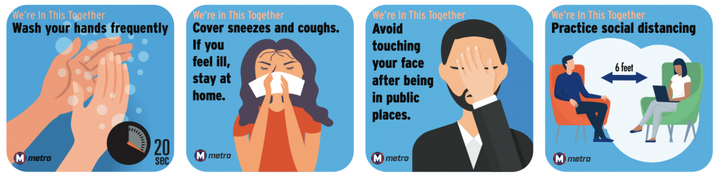We're In This Together: Help prevent the spread of COVID-19