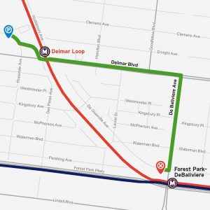 Directions to Delmar Loop Station Parking