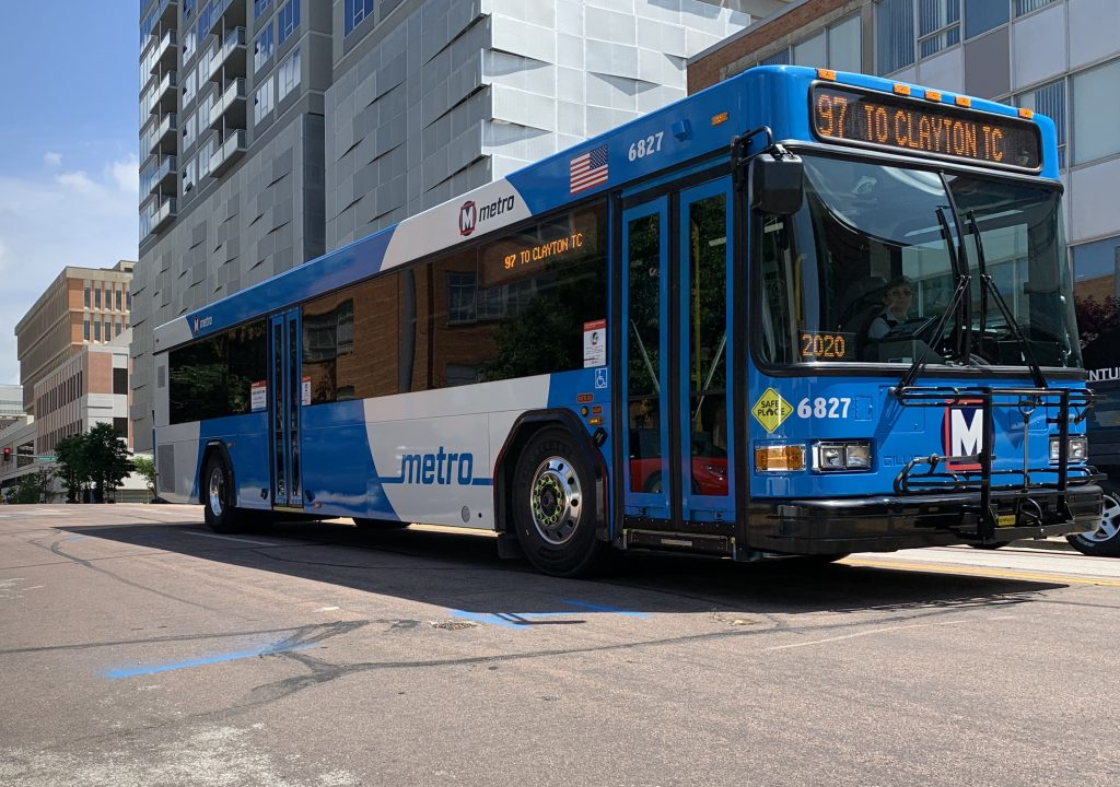 Image of MetroBus driving on the street