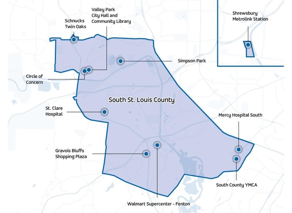 Via South County Map